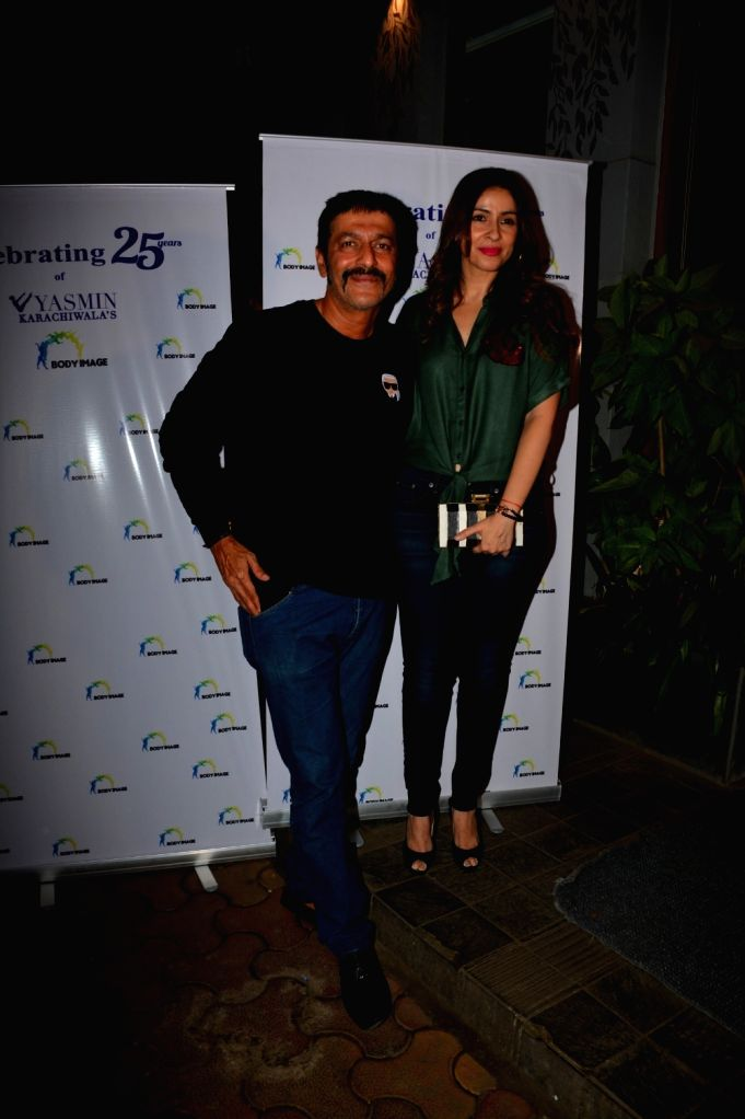 Actor Chunky Pandey along with his wife Bhavna Pandey during a programme in Mumbai on Sept 23, 2018. - Chunky Pandey and Bhavna Pandey