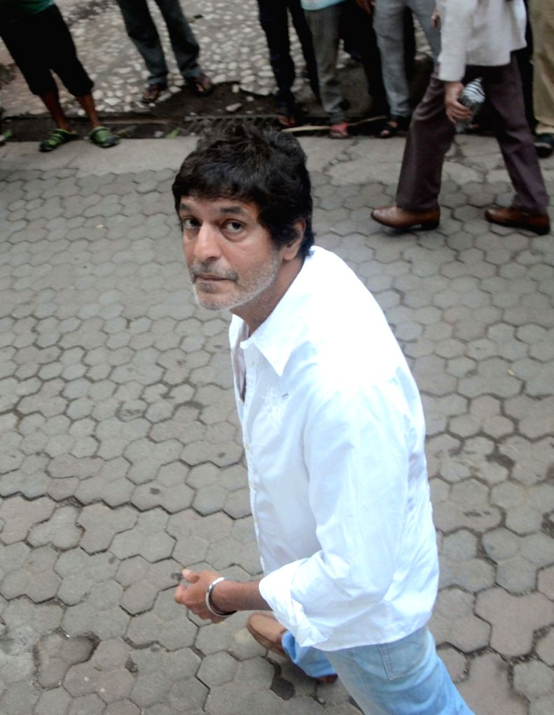 Actor Chunky Pandey arrives to attend Late actor Shashi Kapoor's condolence meeting in Mumbai on Dec 7, 2017. - Chunky Pandey and Shashi Kapoor