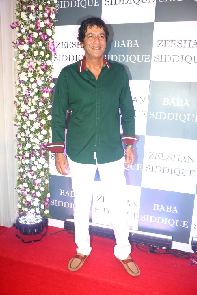 Actor Chunky Pandey at Congress leader Baba Siddique's Iftar party in Mumbai, on June 2, 2019. - Chunky Pandey