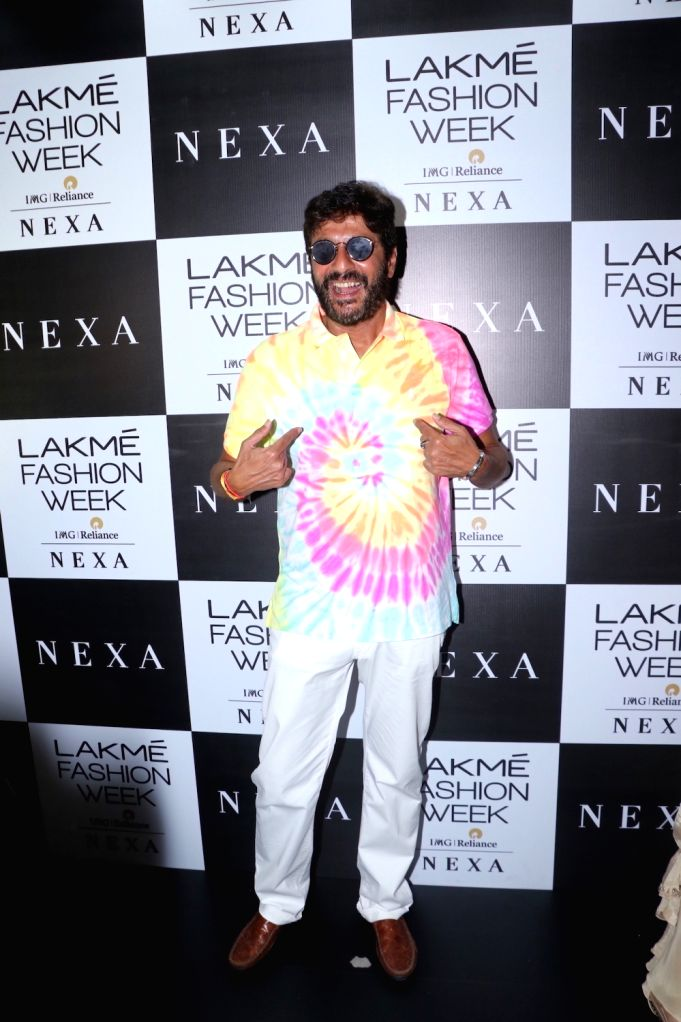 Actor Chunky Pandey at the Lakme Fashion Week Winter/Festive 2019 in Mumbai on Aug 24, 2019. - Chunky Pandey