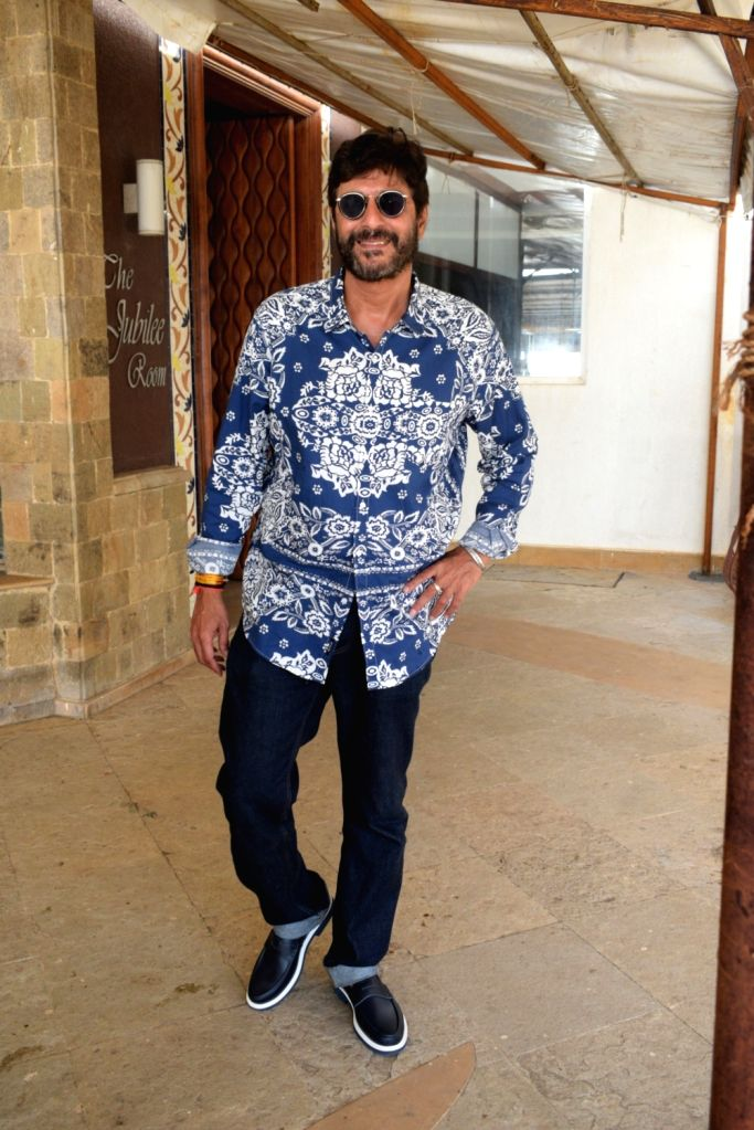 """Actor Chunky Pandey at the promotion of his upcoming film """"Prasthanam in Mumbai, on Aug 26, 2019. - Chunky Pandey"""