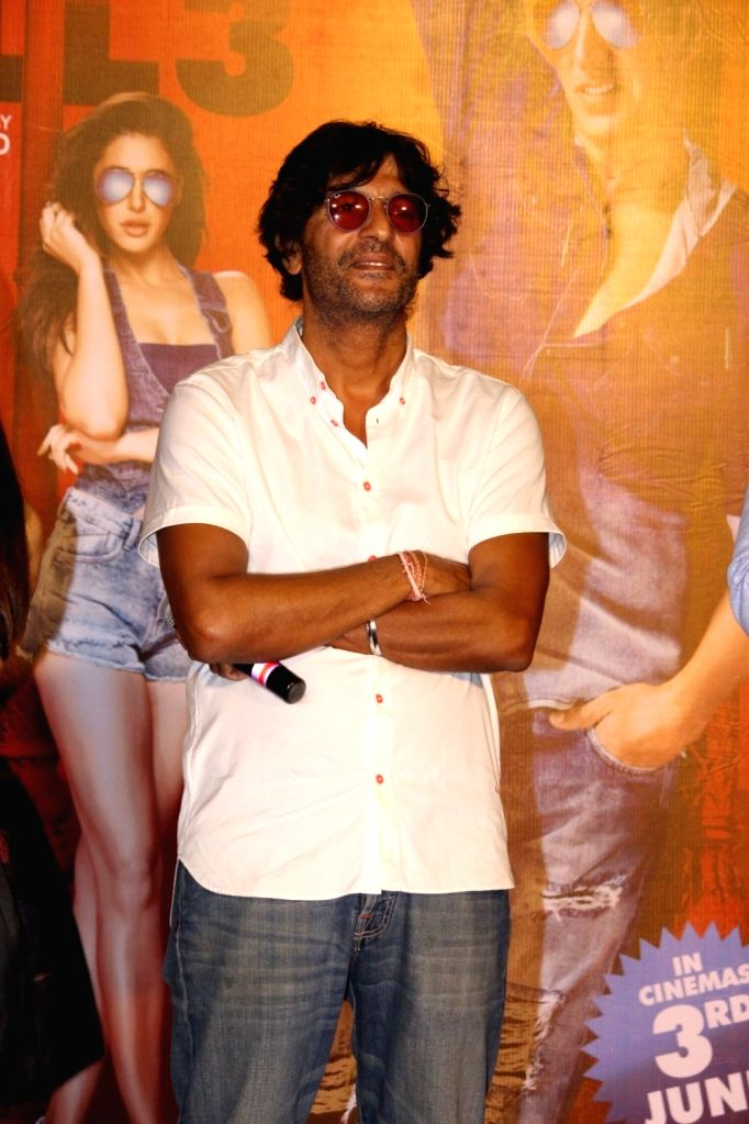 Actor Chunky Pandey during the press conference of film Housefull 3, in Mumbai, on June 2, 2016. - Chunky Pandey
