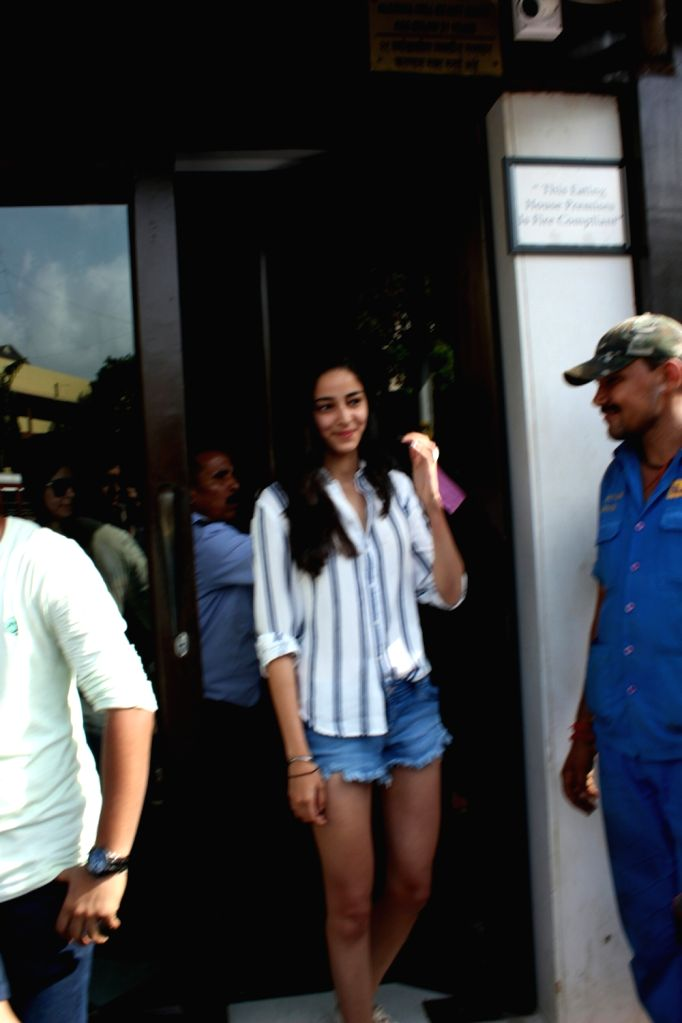 Actor Chunky Pandey's daughter Ananya Pandey seen at Mumbai's Bandra on May 20, 2018. - Chunky Pande and Ananya Pandey