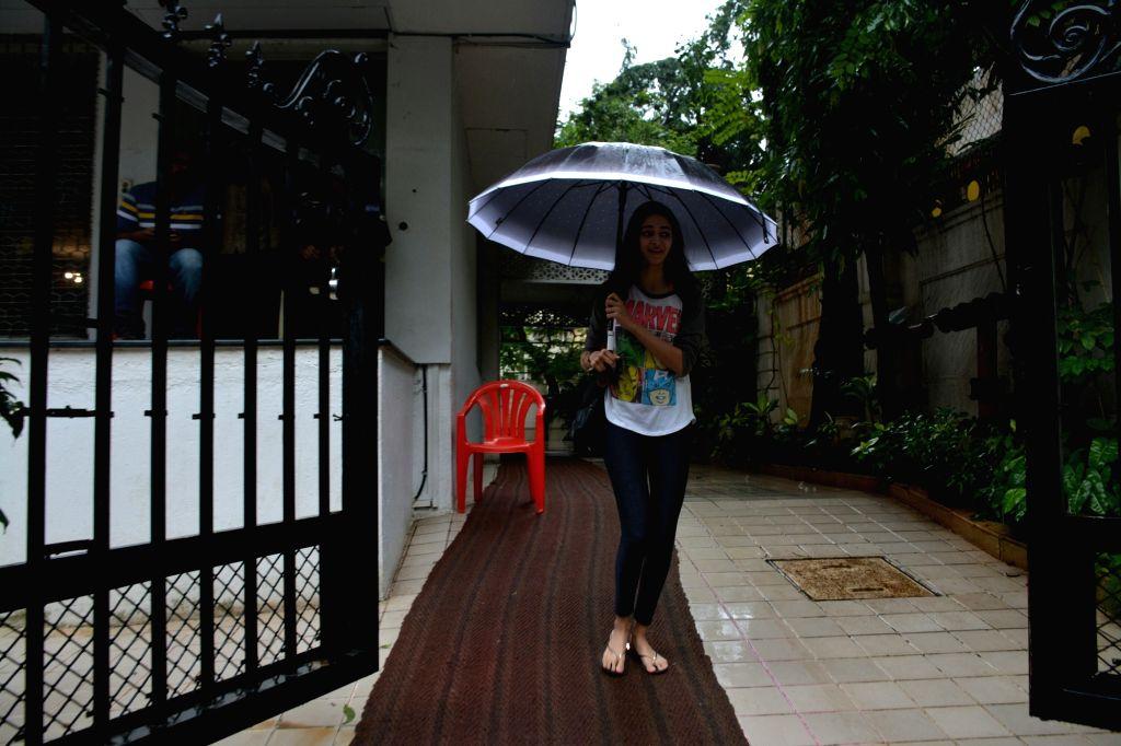 Actor Chunky Pandey's daughter Ananya Pandey seen in Mumbai's Bandra on July 16, 2018. - Chunky Pande and Ananya Pandey