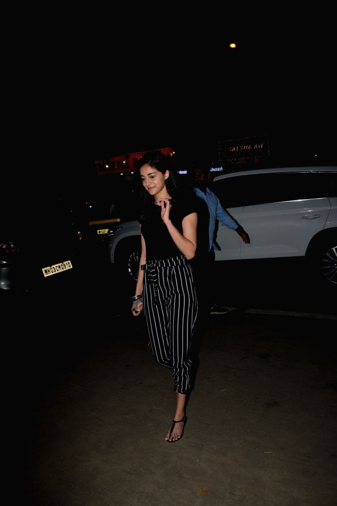 Actor Chunky Pandey's daughter Ananya Pandey seen at a club in Mumbai's Juhu, on Feb 6, 2019. - Chunky Pande and Ananya Pandey