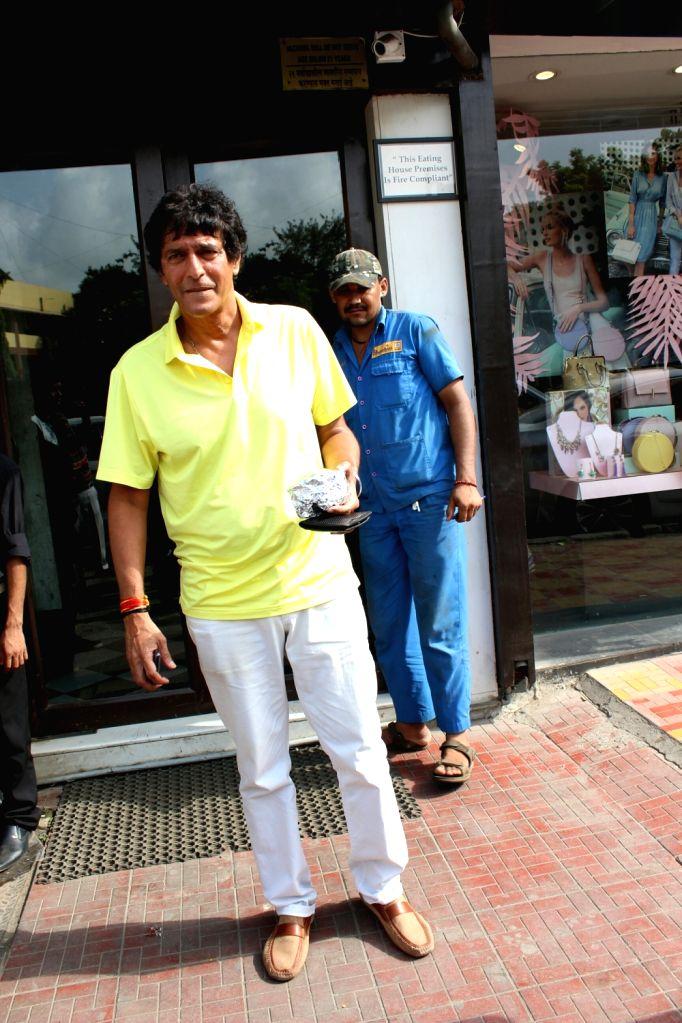 Actor Chunky Pandey seen at Mumbai's Bandra on May 20, 2018. - Chunky Pandey