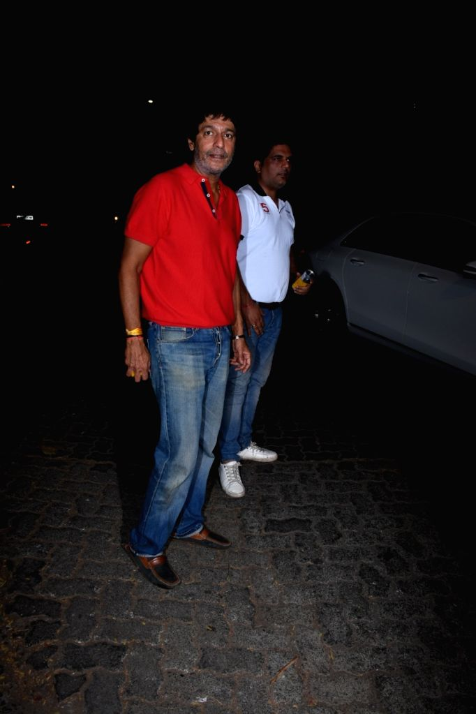 Actor Chunky Pandey seen outside actor Sohail Khan's house in Mumbai, on May 12, 2019. - Chunky Pandey and Sohail Khan