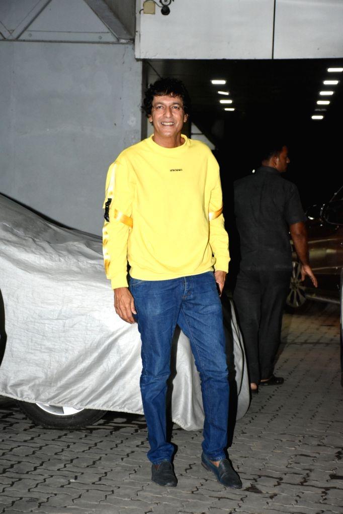 Actor Chunky Pandey seen outside Sohail Khan's house, in Mumbai, on June 16, 2019. - Chunky Pandey and Sohail Khan
