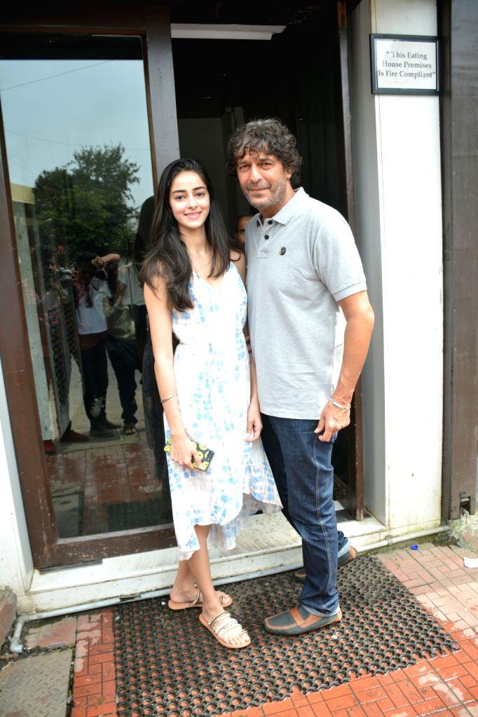 Actor Chunky Pandey with his daughter Ananya Pandey seen at Mumbai's Bandra on July 29, 2018. - Chunky Pandey and Ananya Pandey