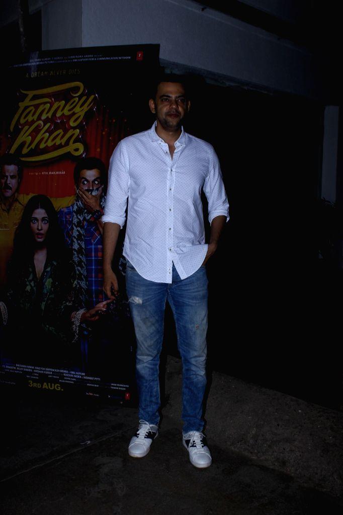 "Actor Cyrus Sahukar at the special screening of upcoming film ""Fanney Khan"", in Mumbai on Aug 1, 2018. - Cyrus Sahukar and Fanney Khan"