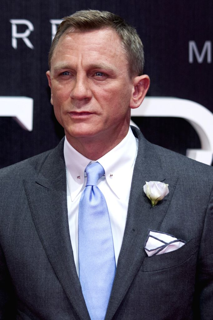 """:Actor Daniel Craig poses during the red carpet of the movie """"Spectre"""" of the James Bond saga in Mexico City, capital of Mexico, on Nov. 2, 2015. ..."""