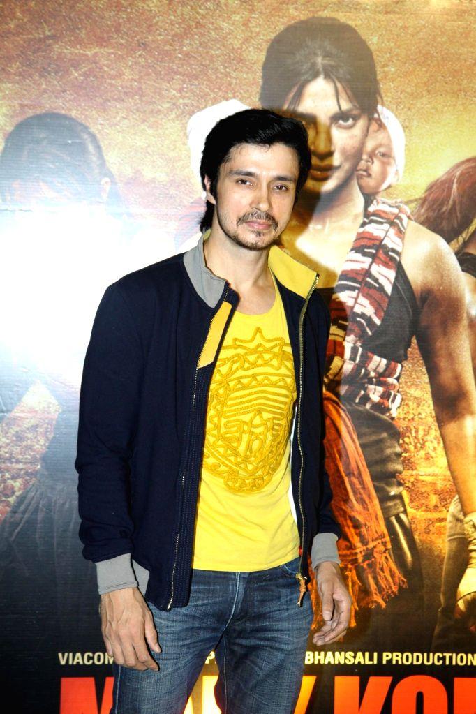 Actor Darshan Kumar during the unveiling of the trailer of film Mary Kom in Mumbai on July 23, 2014. - Darshan Kumar