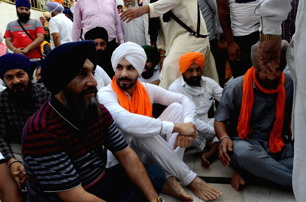 Actor Deep Sidhu,pay respects on the occasion of the 37th anniversary of the Operation Blue Star, 1984, at Golden Temple in Amritsar on Sunday, June 6, 2021. - Deep Sidhu