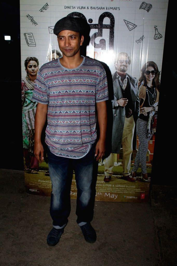 Actor Deepak Dobriyal during the screening of the film Hindi Medium in Mumbai on May 16, 2017. - Deepak Dobriyal