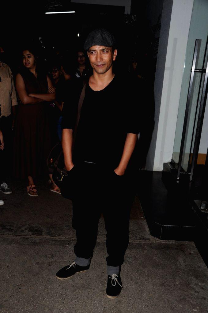 Actor Deepak Dobriyal during the special screening of film Hindi Medium in Mumbai, on May 15, 2017. - Deepak Dobriyal