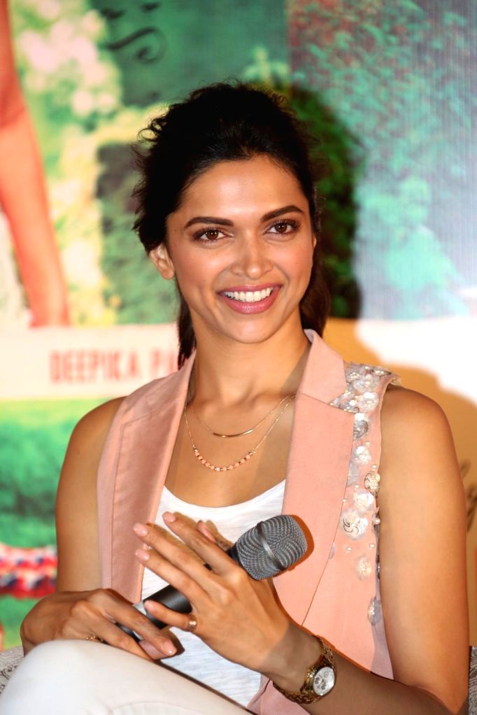 Actor Deepika Padukone during the promotion of her upcoming film Finding Fanny, in Hyderabad on Sep. 02, 2014. - Deepika Padukone