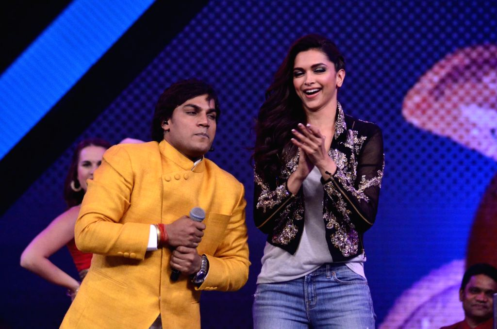 Actor Deepika Padukone during the promotion of film Finding Fanny on the sets of reality show Indias Raw Star in Mumbai on September 8, 2014. - Deepika Padukone