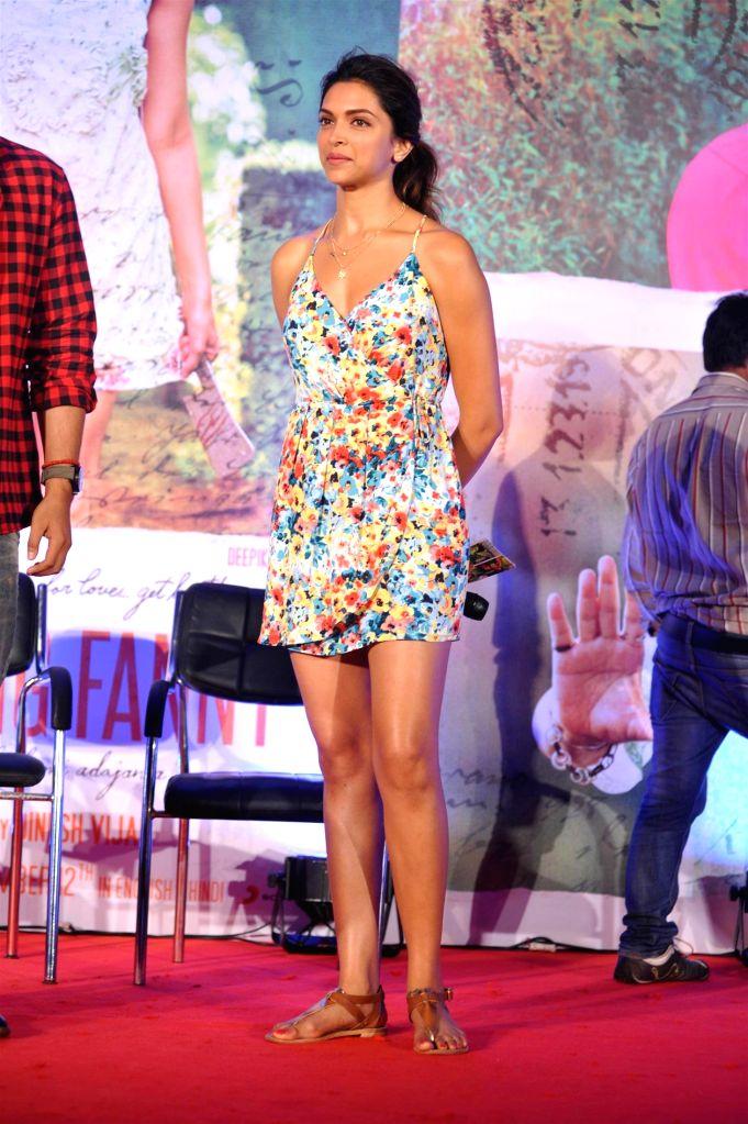 Actor Deepika Padukone during the song launch of film Finding Fanny in Mumbai on August 11, 2014. (IANS: Photo) - Deepika Padukone