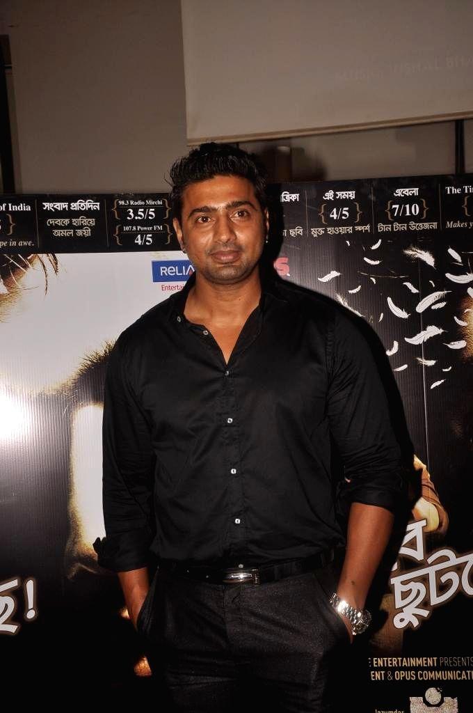 Actor Dev Adhikari during special screening of Bengali film Buno Haansh in Mumbai. - Dev Adhikari