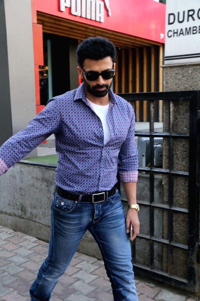 Actor Dev Gill seen at khar in Mumbai on Feb 13, 2018. - Dev Gill