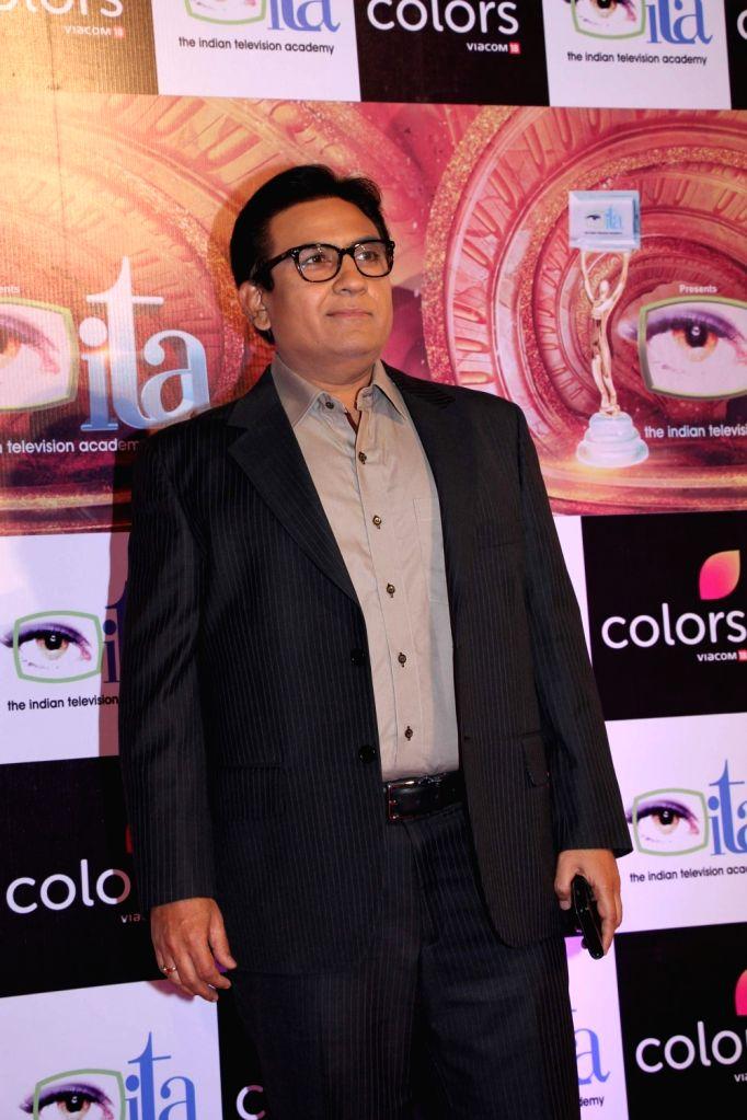 Actor Dilip Joshi during the 16th Indian Television Academy (ITA) Awards 2016 in Mumbai on Nov 13, 2016. - Dilip Joshi