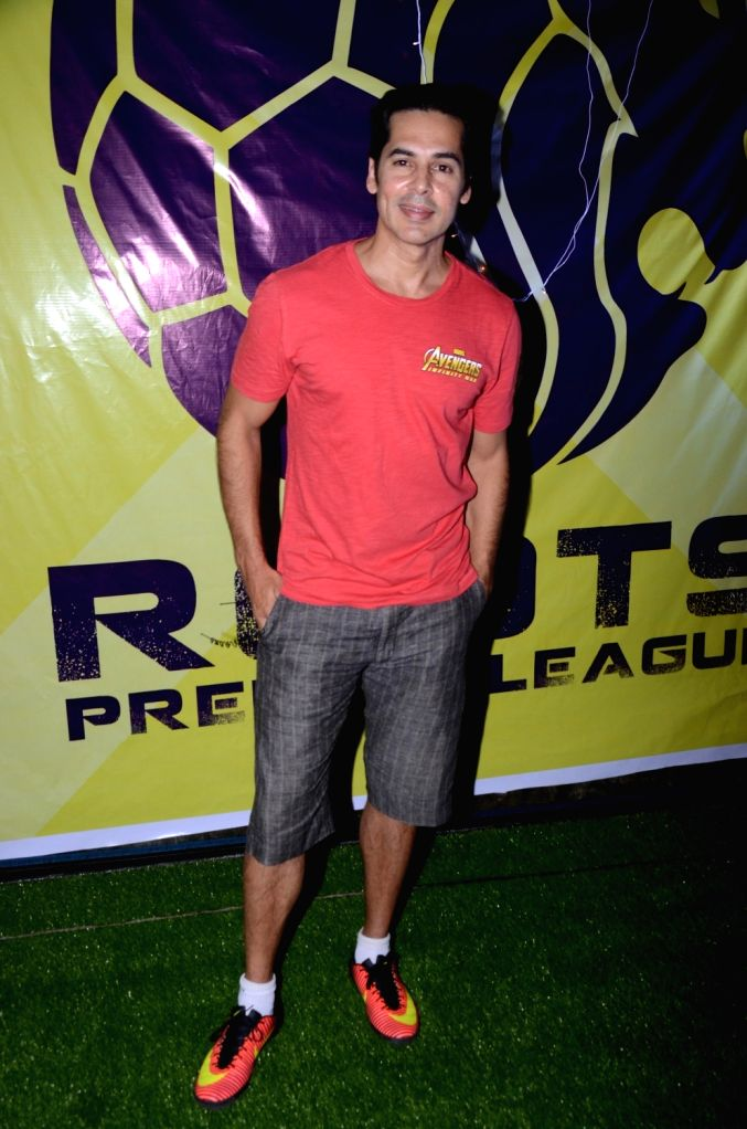 Actor Dino Morea during Roots Premier League 2018 in Mumbai on Sept 8, 2018. - Dino Morea