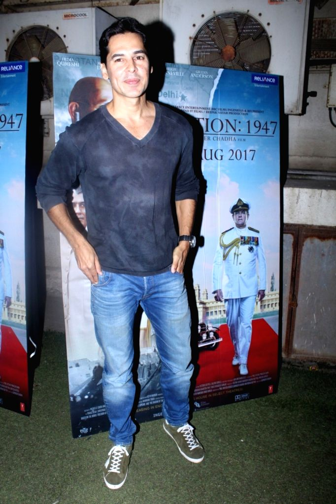 """Actor Dino Morea during the special screening of film """"Partition: 1947"""" in Mumbai on Aug 17, 2017. - Dino Morea"""