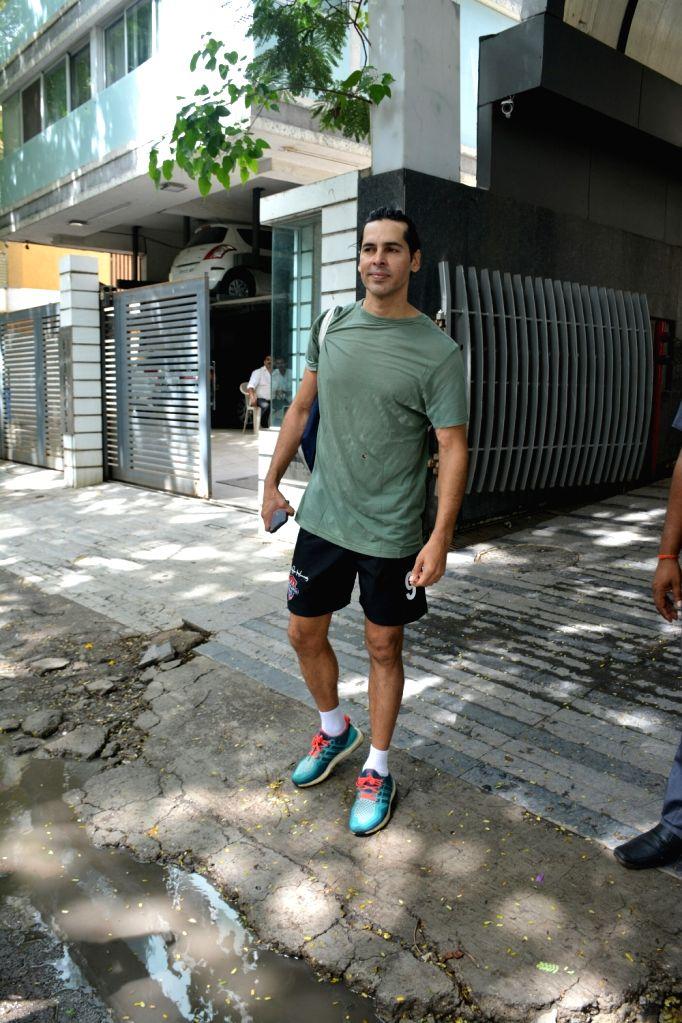 Actor Dino Morea seen at Mumbai's Bandra on June 30, 2018. - Dino Morea