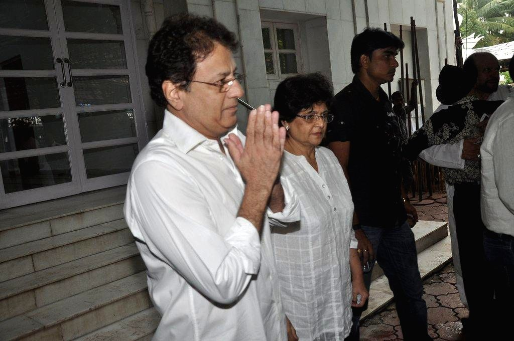 Actor director Arun Govil during the condolence meet of filmmaker Dharmesh Tiwari in Mumbai, on August 9, 2014.