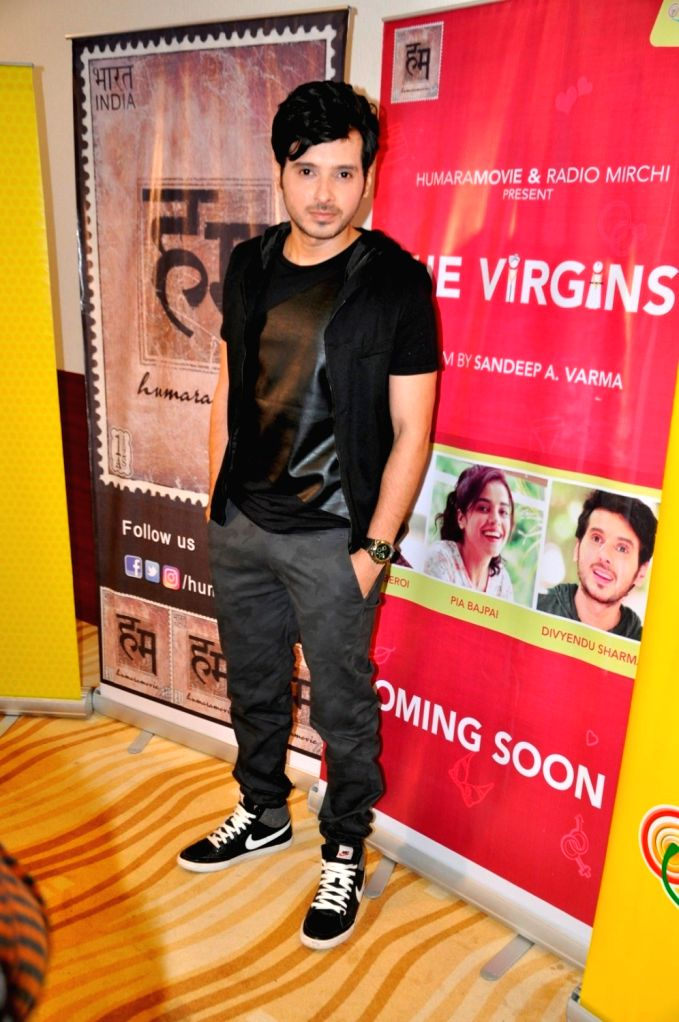 Actor Divyendu Sharma during the special screening of short film `The Virgins` in Mumbai, on June 30, 2016. - Divyendu Sharma