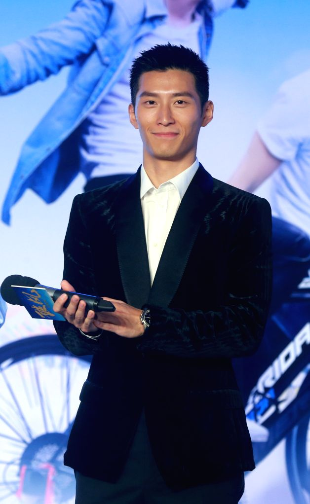 """Actor Dou Xiao attends the press conference of the movie """"To the Fore"""" in Beijing, capital of China, Aug. 2, 2015. The movie is expected to hit the screen ... - Dou Xiao"""