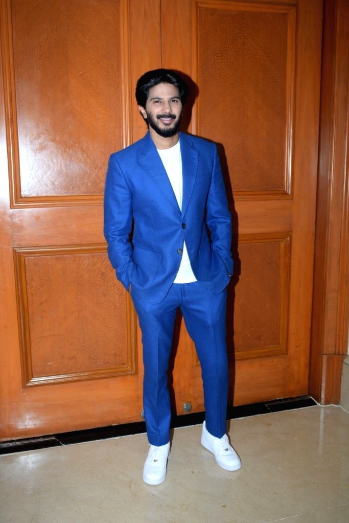 "Actor Dulquer Salmaan at the promotion of his upcoming film ""The Zoya Factor"" in Mumbai, on Sep 5, 2019. - Dulquer Salmaan"