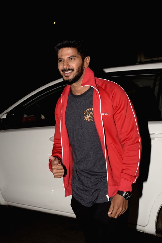 Actor Dulquer Salmaan seen outside a club in Mumbai's Juhu, on Feb 14, 2019. - Dulquer Salmaan