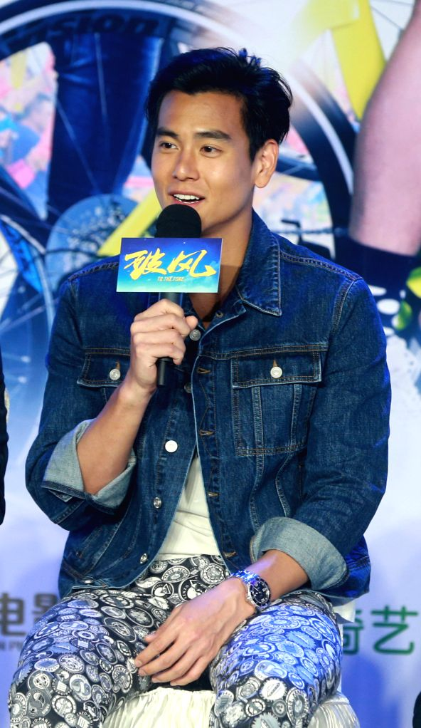 """Actor Eddie Peng attends the press conference of the movie """"To the Fore"""" in Beijing, capital of China, Aug. 2, 2015. The movie is expected to hit the ... - Eddie Peng"""