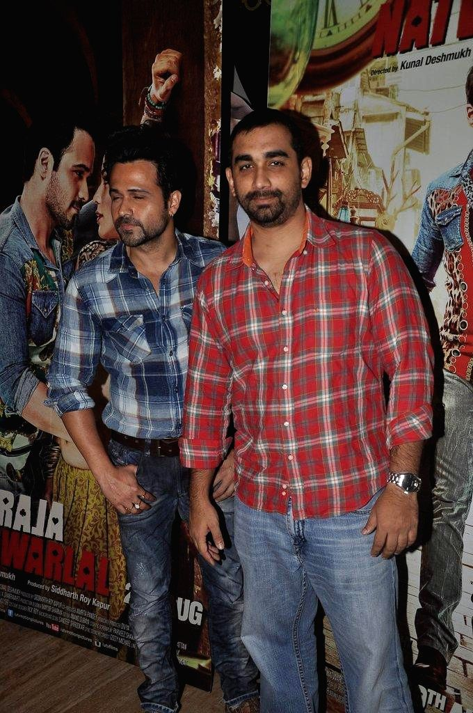 Actor Emraan Hashmi during the promotion of the upcoming film Raja Natwarlal in Mumbai, on August 9, 2014. - Emraan Hashmi