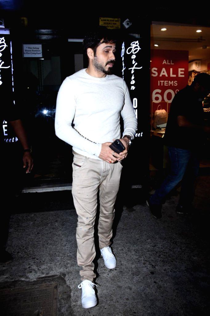 Actor Emraan Hashmi seen at Bandra in Mumbai on Jan 26, 2020. - Emraan Hashmi