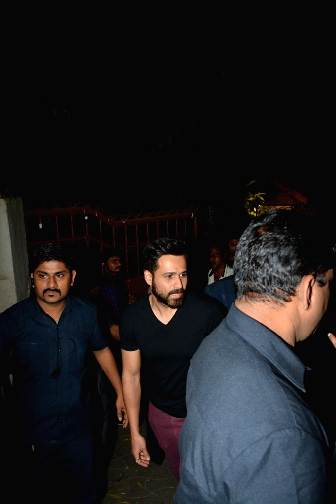 Actor Emraan Hashmi seen at Pali Hill in Mumbai's Bandra on Dec 2, 2018. - Emraan Hashmi