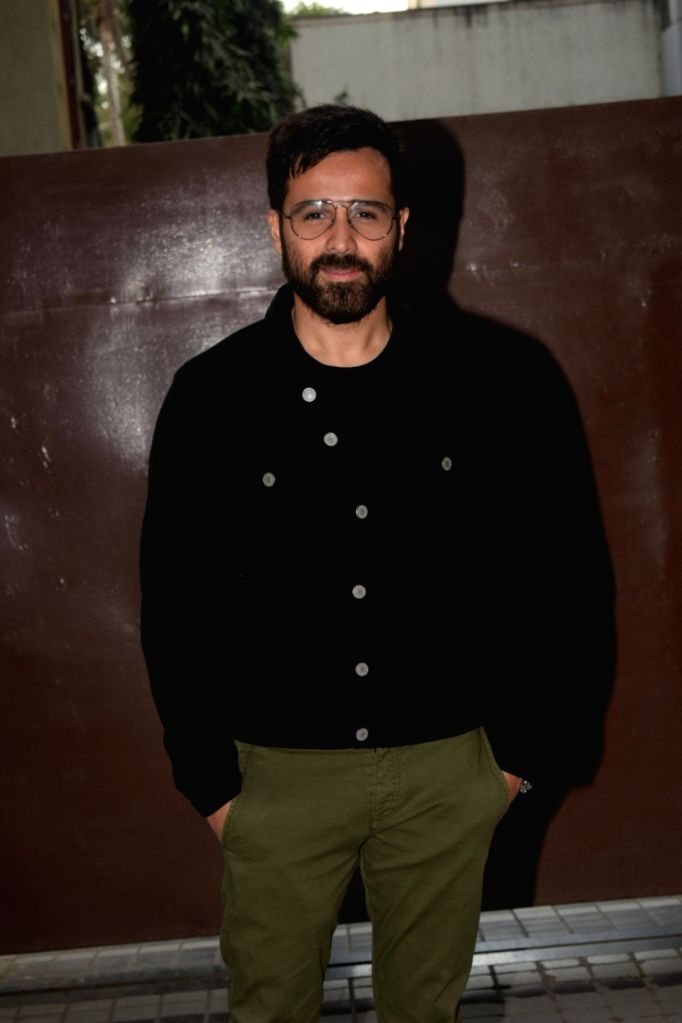 Actor Emraan Hashmi seen at T-Series' office in Mumbai's Andheri on Dec 12, 2018. - Emraan Hashmi
