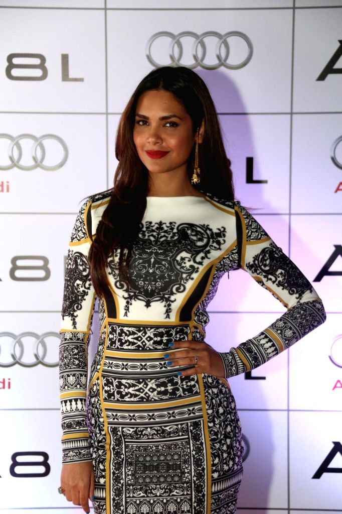 Actor Esha Gupta during the launch of Audi A8L in Dubai.
