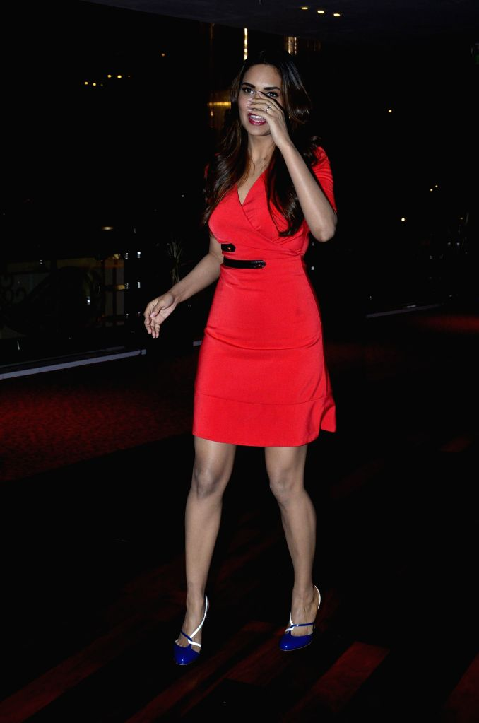 Actor Esha Gupta during the success party of film Humshakals organised by Fox Star Studios and filmmaker Vashu Bhagnani in Mumbai on June 24, 2014. - Esha Gupta