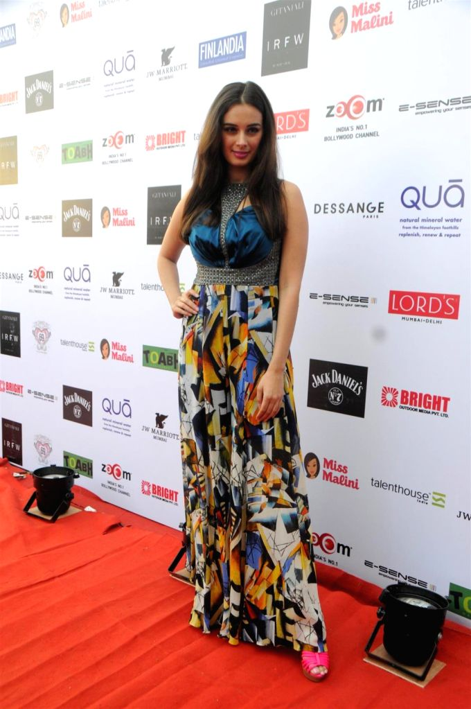 Actor Evelyn Sharma at the 3rd Edition of India Resortwear Fashion Week (IRFW) 2013 in Mumbai on December 13, 2013. - Evelyn Sharma
