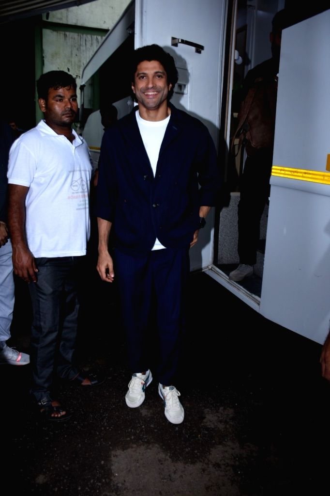 "Actor Farhan Akhtar during the promotions of his upcoming film ""The Sky Is Pink"" in Mumbai on Sep 25, 2019. - Farhan Akhtar"