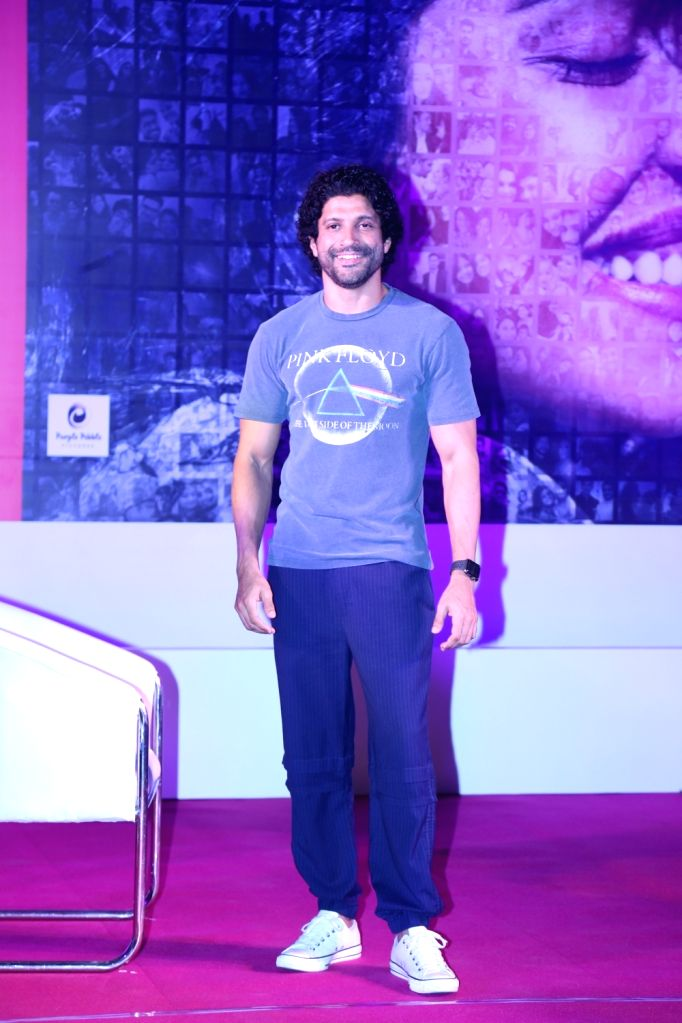 "Actor Farhan Akhtar during the promotions of his upcoming film ""The Sky Is Pink"" in Mumbai on Oct 6, 2019. - Farhan Akhtar"