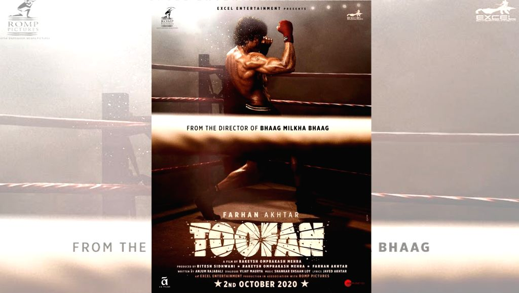 """Actor Farhan Akhtar took social media by storm when he posted the first look of his forthcoming film """"Toofan"""", directed by Rakeysh Omprakash Mehra. - Farhan Akhtar"""