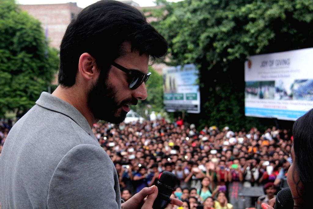 Actor Fawad Khan  during a promotional event of his upcoming film Khoobsurat at a private university in Jalandhar, on Sept. 18, 2014. (Photo: IANS) - Fawad Khan