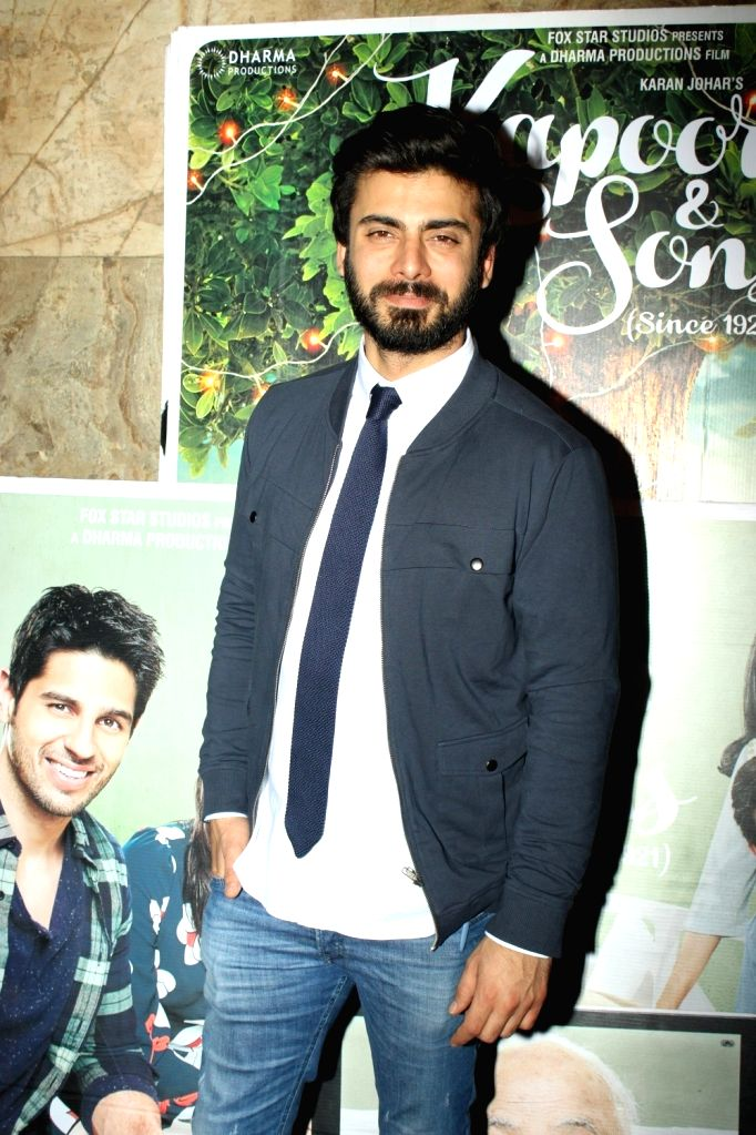 Actor Fawad Khan during the screening of film Kapoor and Sons in Mumbai, on March 17, 2016. - Fawad Khan