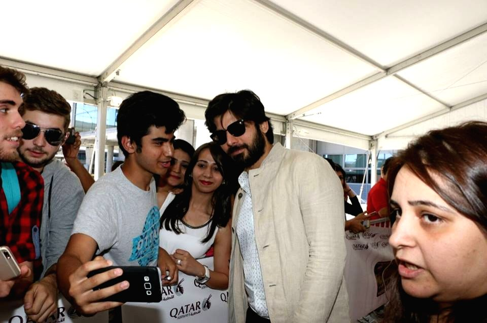 Actor Fawwad Khan at Adolfo Suarez Madrid-Barajas Airport to attend the International Indian Film Academy (IIFA) Awards in Madrid on June 22, 2016. - Fawwad Khan