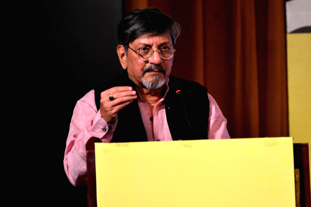 Actor filmmaker Amol Palekar addresses during a programme regarding community action for road safety in Jaipur, on Jan 17, 2016.