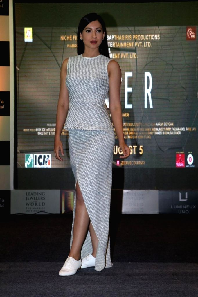 Actor Gauhar Khan during the launch of Lumineux Uno, a premium luxury metal by The Leading Jewelers of the World in Mumbai on July 27, 2016. The actors also promoted their upcoming film Fever ... - Gauhar Khan