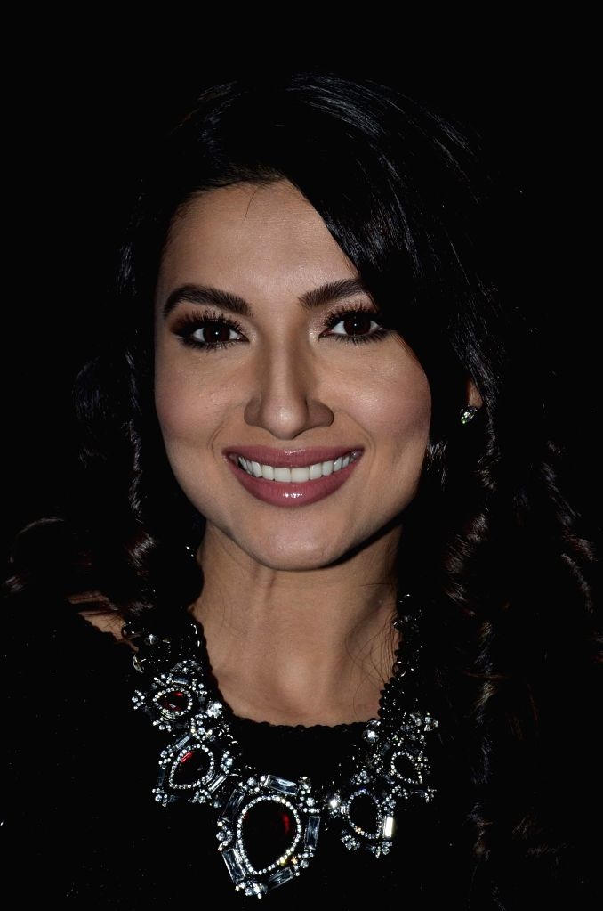 Actor Gauhar Khan during the promotion of film Finding Fanny on the sets of reality show Indias Raw Star in Mumbai on September 8, 2014. - Gauhar Khan